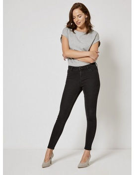 Black 'darcy' Skinny Ankle Grazer Jeans by Dorothy Perkins