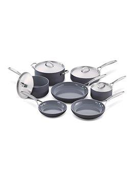 Green Pan Paris Pro 11pc Ceramic Non Stick Cookware Set by Green Pan