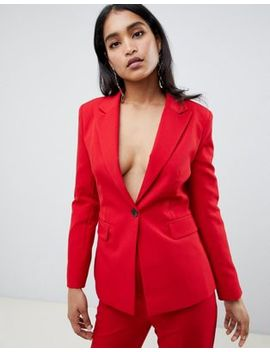 Asos Design Red Suit Blazer by Asos Design