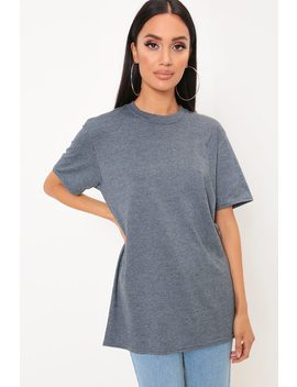 grey-basic-oversized-t-shirt by i-saw-it-first