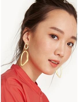 Free Form Oval Drop Earrings by Pomelo