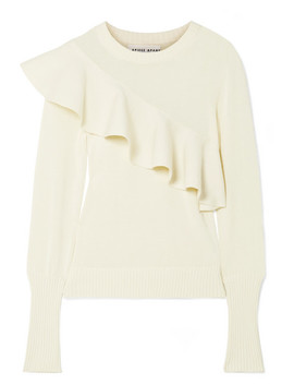 Sterre Ruffled Cotton Sweater by Apiece Apart