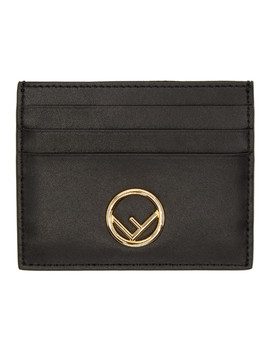 Black 'f Is Fendi' Card Holder by Fendi
