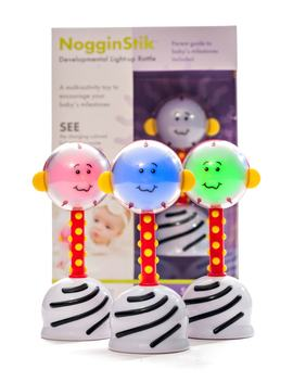Nogginstik Developmental Light Up Rattle by Smartnoggin