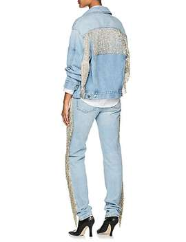 Fringed Denim Jacket by Helmut Lang