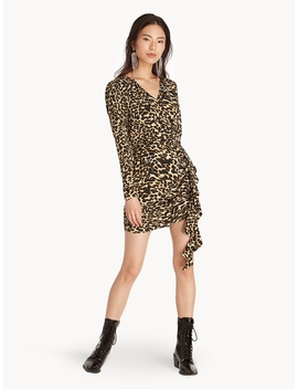 Mini Leopard Ruffle Accent Dress by Pomelo