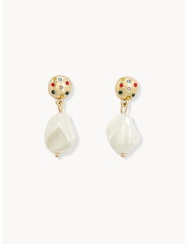 Embellished  Circle Stud Earrings by Pomelo