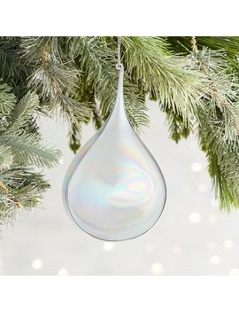 Clear Luster Glass Drop Ornament by Pier1 Imports