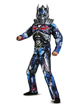 Disguise Optimus Prime Movie Classic Muscle Costume, Blue, Large (10 12) by Disguise