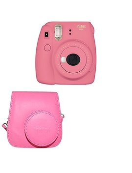 Fujifilm Instax Mini 9 Instant Camera With Instax Groovy Camera Case (Flamingo Pink) by Fujifilm