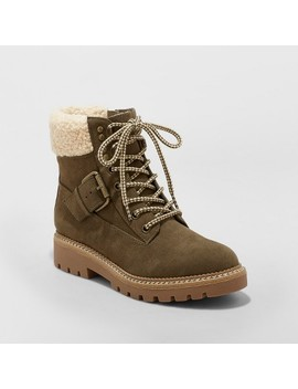 Women's Susan Sherpa Tipped Hiker Boots   Universal Thread™ by Universal Thread