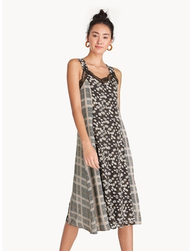 Midi Lace Double Strap Dress   Black by Pomelo