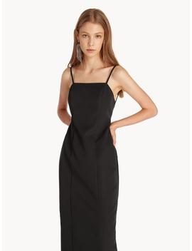 Midi Open Back Cami Dress   Black by Pomelo