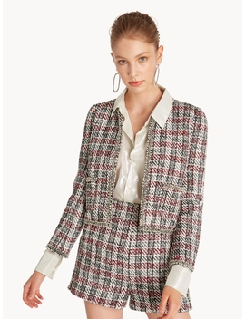 Tweed Checkered Jacket by Pomelo