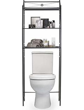 Sorbus Bathroom Storage Shelf Over Toilet Space Saver, Freestanding Shelves For Bath Essentials, Planters, Books, Etc by Sorbus