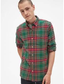 Standard Fit Flannel Pocket Shirt by Gap