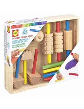 Alex Art Wooden Dough Tools Set by Alex Toys