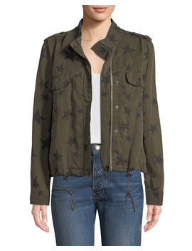 Collins Star Print Utility Jacket by Rails