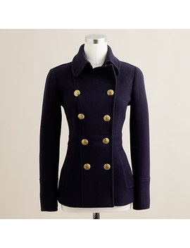 Stadium Cloth Peacoat With Gold Buttons by J.Crew