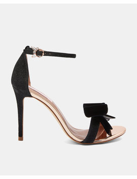 Lurex Oversized Bow Sandals by Ted Baker