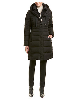 Tahari Mia Fitted Puffer Coat by T Tahari