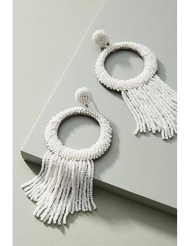 Tammy Tassled Hooped Post Earrings by Deepa