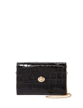 Croc Embossed Turnlock Chain Crossbody Bag by Coach 1941