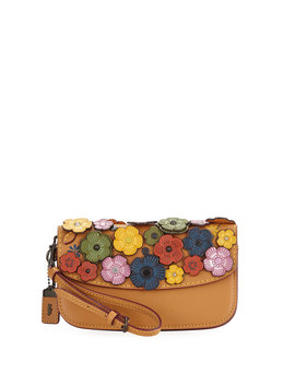 Small Tea Rose Wristlet Clutch Bag by Neiman Marcus