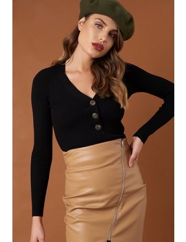 Ribbed Buttoned Sweater by Na Kd Trend