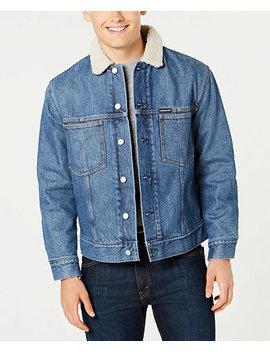 Men's Sherpa Lined Denim Jacket by Calvin Klein Jeans