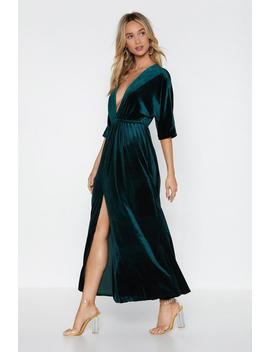 Hot Date Velvet Dress by Nasty Gal