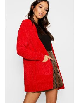 Chenille Edge To Edge Cardigan by Boohoo