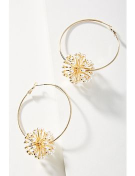 Alluring Aster Hoop Earrings by Anton Heunis