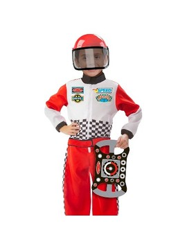 Melissa & Doug® Race Car Driver Role Play Costume Set (3pc)   Jumpsuit, Helmet, Steering Wheel by Melissa & Doug