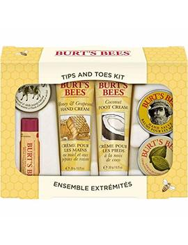 Burt's Bees Tips And Toes Kit Holiday Gift Set, 6 Travel Size Products In Gift Box   2 Hand Creams, Foot Cream, Cuticle Cream, Hand Salve And Lip Balm by Burt's Bees