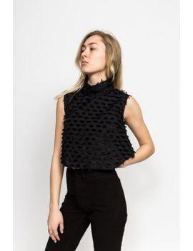 Rachel Comey Una Tassel Fringe Sleeveless Crop Top   Black 0 Xs by Rachel Comey