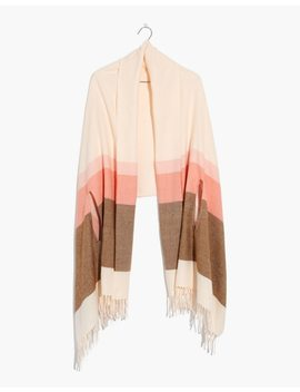 Placed Stripe Cape Scarf by Madewell