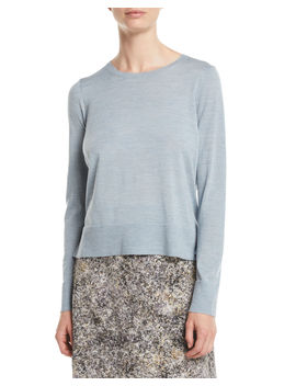 Ultrafine Merino Wool Boxy Sweater by Eileen Fisher