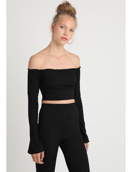 Bardot Flare Sleeve Crop    Maglietta A Manica Lunga by Missguided Tall