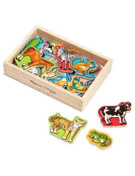 Melissa & Doug® 20 Wooden Animal Magnets In A Box by Melissa & Doug