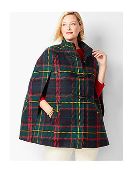 Tartan Plaid Cape by Talbots