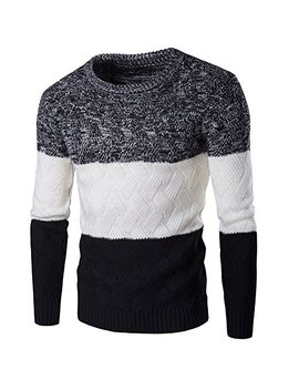 Zicac Mens Casual Twisted Knitted Turtleneck Slim Fit Pullover Thermal Sweaters by Zicac