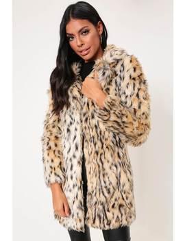 Leopard Print Shaggy Faux Fur Coat by I Saw It First