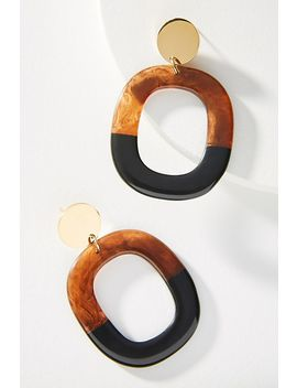 Roca Colorblocked Hooped Post Earrings by Amber Sceats