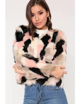 Multi Soft Faux Fur Jacket by I Saw It First