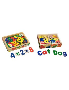 Melissa & Doug® Deluxe Magnetic Letters And Numbers Set With 89 Wooden Magnets by Melissa & Doug