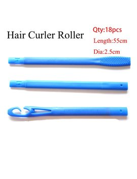 18/20pcs 20/45/55/65cm Plastic Long Diameter 2.5cm Magic Hair Curler Magic Hair Roller Spiral Curls Easy Usage  by Ali Express