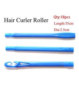 18/20pcs 20/45/55/65cm Plastic Long Diameter 2.5cm Magic Hair Curler Magic Hair Roller Spiral Curls Easy Usage  by Ali Express
