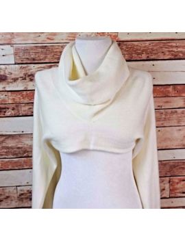 Renee C By So Cool Womens Sweater Crop Long Bell Sleeve Ivory Size Medium by Renee C By So Cool