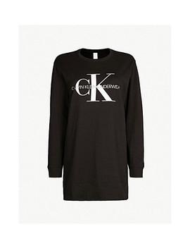 Monogram Cotton Jersey Nighshirt by Calvin Klein